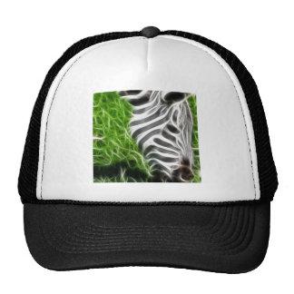 Zebra grazing trucker hat