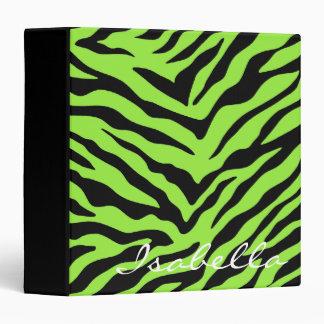 Zebra - Green Vinyl Binders