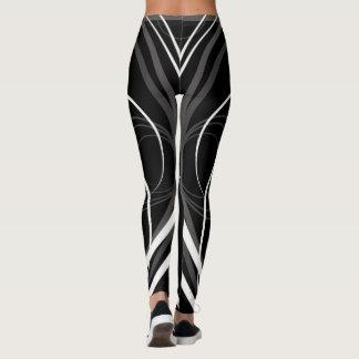 Zebra grey and white leggings