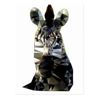 Zebra Head African Animal Low Poly Postcard