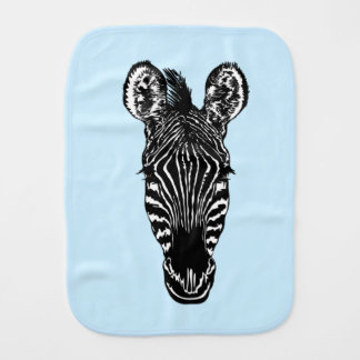 Zebra Head Baby Boy Burp Cloth