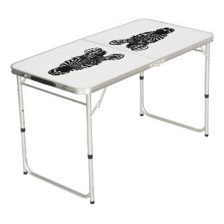 Zebra Head Beer Pong Table