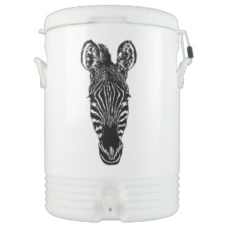 Zebra Head Cooler