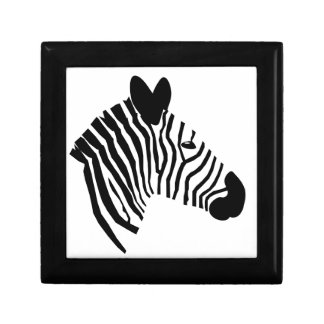 Zebra head illustration beautiful jewelry box