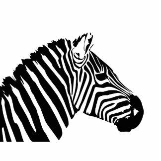 Zebra head standing photo sculpture