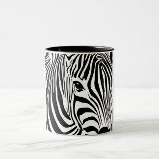 Zebra Head Two-Tone Coffee Mug