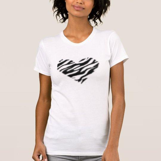 zebra heart T-Shirt
