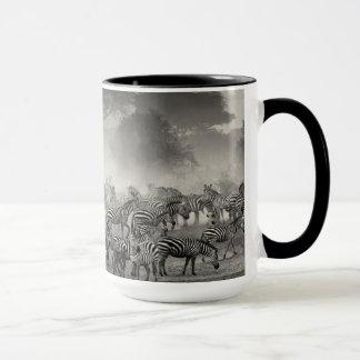 Zebra herd mug