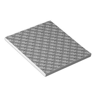 Zebra horse stripes pattern black & White Notepad