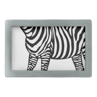 Zebra Illustration Belt Buckles