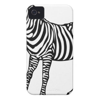 Zebra Illustration iPhone 4 Cases