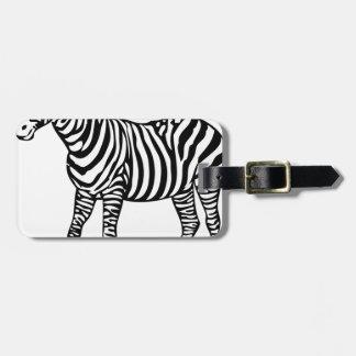 Zebra Illustration Luggage Tag
