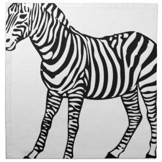 Zebra Illustration Napkin