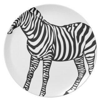 Zebra Illustration Plate