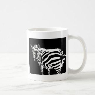 zebra in the farm coffee mug