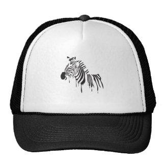 Zebra Ink Drip Trucker Hat
