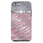 Zebra iPhone 6 Tough Jewellery Glitter PS Tough iPhone 6 Case