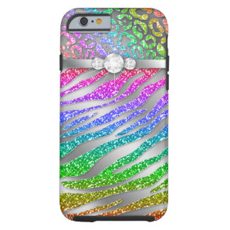 Zebra iPhone 6 Tough Rainbow Glitter S Tough iPhone 6 Case