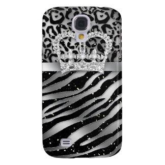 Zebra iPhone Cover Black Jewelry Crown Sparkle