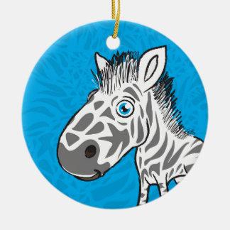 Zebra is Cute Ceramic Ornament