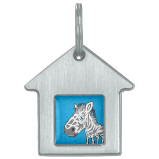 Zebra is Cute Pet ID Tag