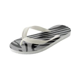 zebra kid's flip flops
