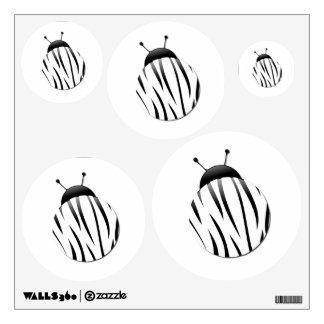 Zebra Ladybug Wall Sticker