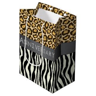 Zebra/Leopard Print Diamond Anniversary Gift Bag