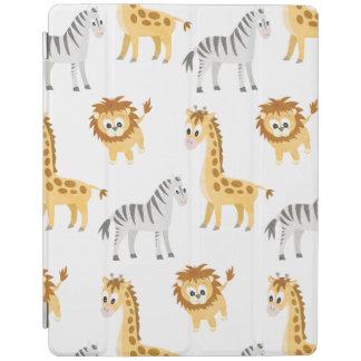 Zebra Lion and Giraffe Cute Baby Animals iPad Cover
