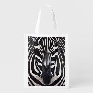 Zebra Lion Grocery Bags