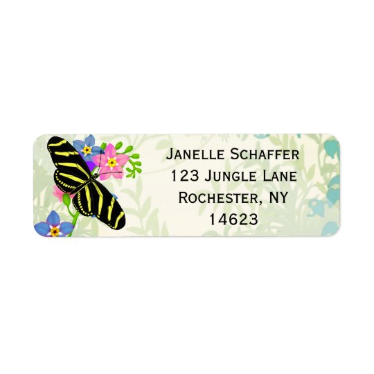 Zebra Longwing Butterfly Address Labels