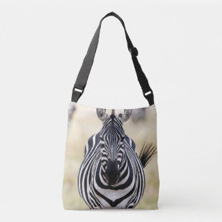 Zebra looking at you crossbody bag