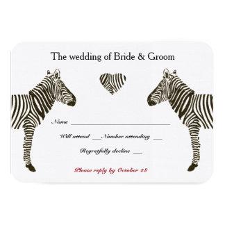 "Zebra Love RSVP 3.5"" X 5"" Invitation Card"