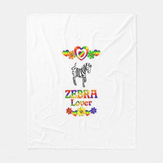 Zebra Lover Fleece Blanket
