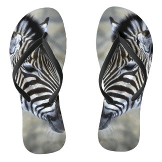 Zebra Lovers Stripes Flip Flops
