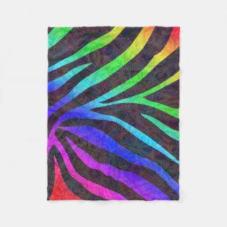 Zebra Mandala Fleece Blanket