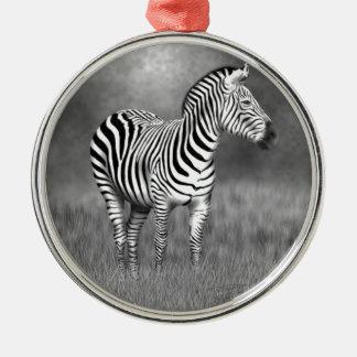 Zebra Metal Ornament