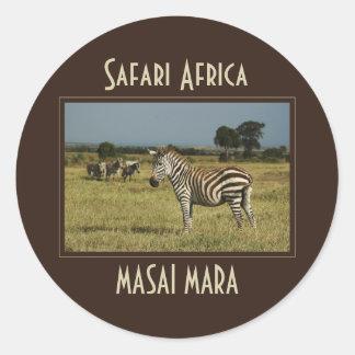 Zebra migration wildlife safari stickers