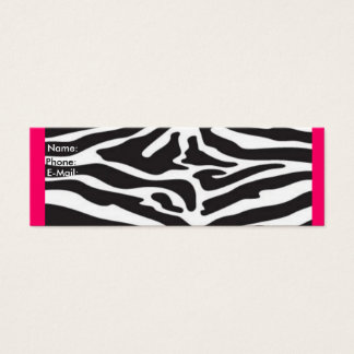 Zebra Mini Business Card