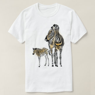 Zebra Mom and  Foal. T-Shirt
