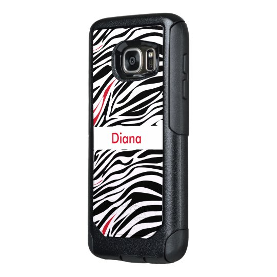 Zebra Monogram Animal Pattern OtterBox Samsung Galaxy S7 Case