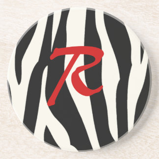 Zebra monogram Coaster