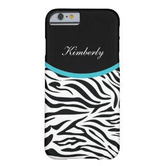 Zebra Monogram Style Barely There iPhone 6 Case