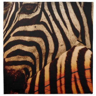 zebra napkin