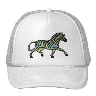 Zebra of a different color trucker hat