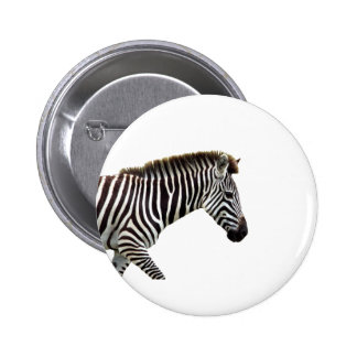 zebra-on-the-masai-mara 2 inch round button