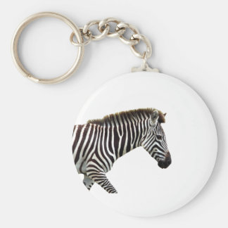 zebra-on-the-masai-mara basic round button keychain