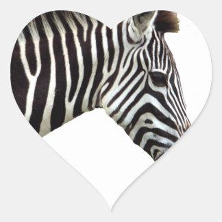 zebra-on-the-masai-mara heart sticker