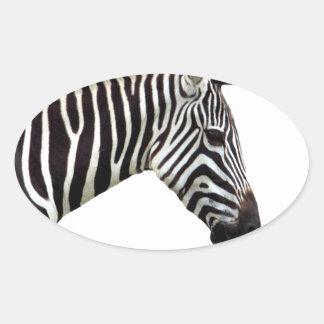 zebra-on-the-masai-mara oval sticker