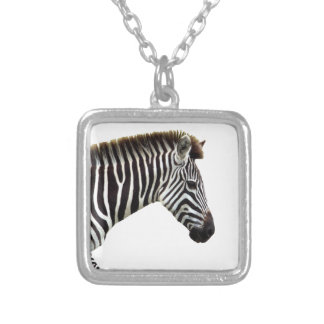 zebra-on-the-masai-mara silver plated necklace